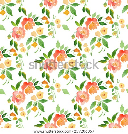 watercolor floral background in