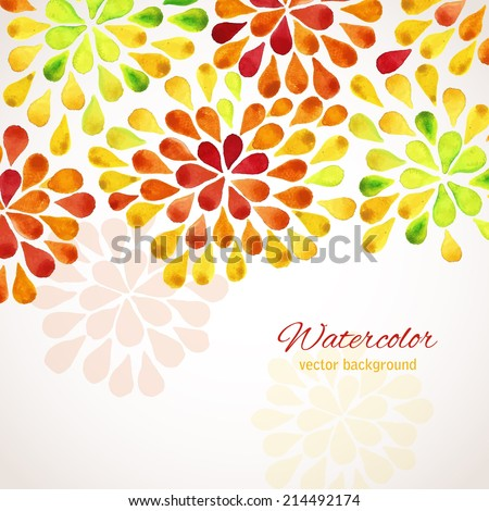 watercolor floral frame design