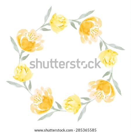 yellow green flower logo - photo #47