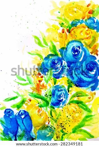 Watercolor flowers #282349181