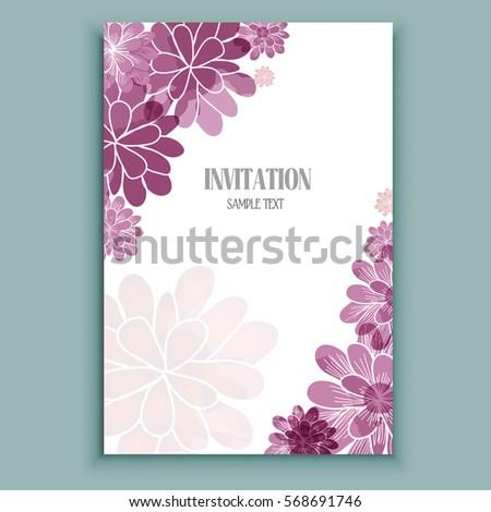 watercolor flowers card