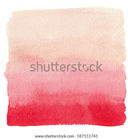 watercolor gradient red to pink