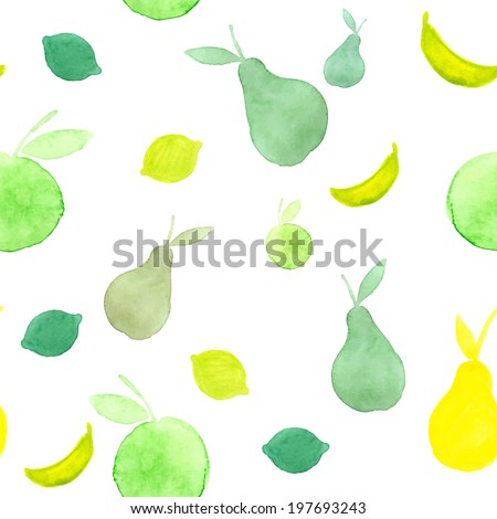 watercolor green and yellow