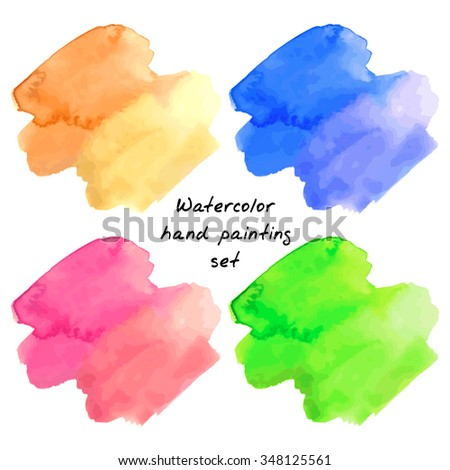 watercolor hand painting stains