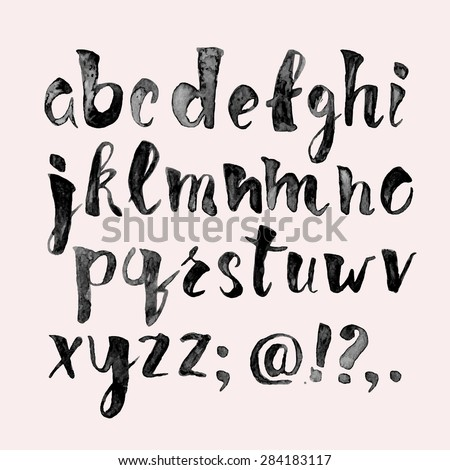 watercolor hand written font