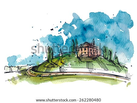 watercolor illustration of a