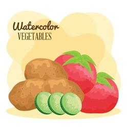 watercolor lettering and vegan food