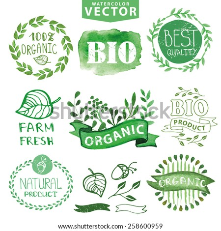 Labeled Plant Organs Badges Labels,ribbons,plants