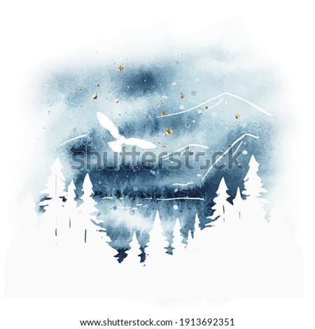 watercolor magic vector