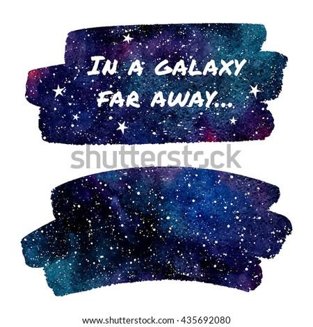 watercolor night sky or cosmos