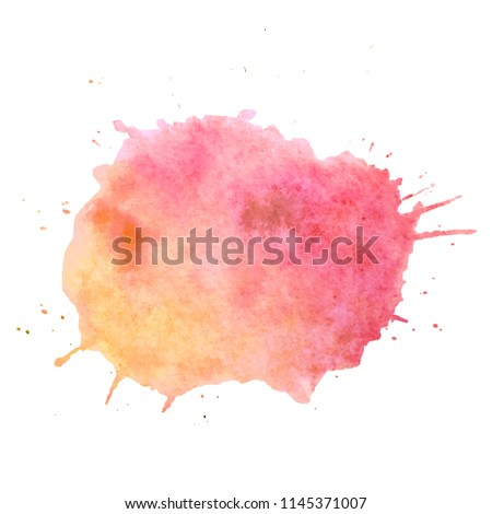 Watercolor paint blob vector text box. Isolated watercolor paint blob for web, sale, banner, text box. Paint blob vector text box for your design, advertise. Vector text box on watercolor paint blob