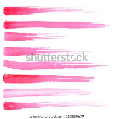 Paint Brush Texture Pink Red