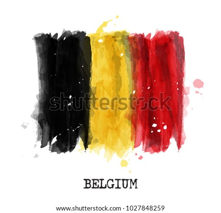 watercolor painting design flag ...