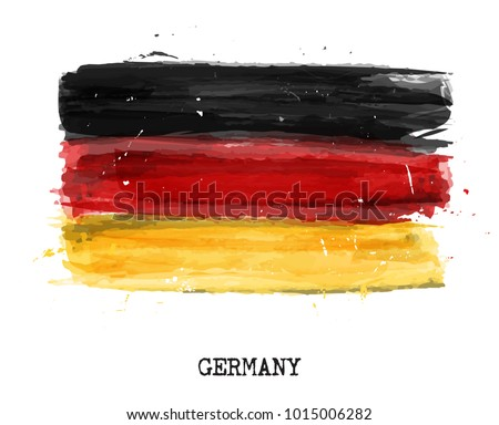 watercolor painting flag of
