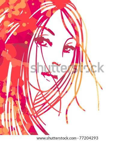 watercolor portrait of
