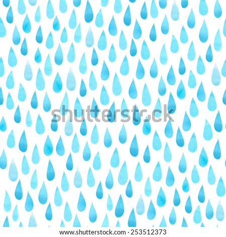 watercolor rain drops  seamless