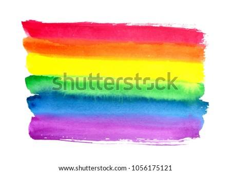 watercolor rainbow abstract