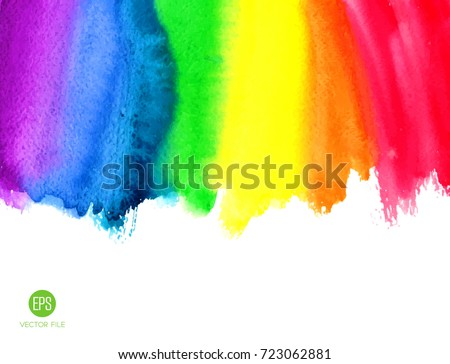 watercolor rainbow abstract