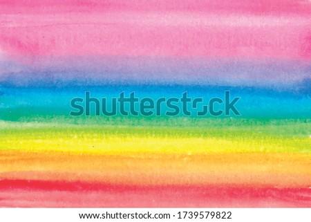 watercolor rainbow brush