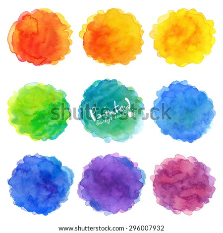 watercolor rainbow colors