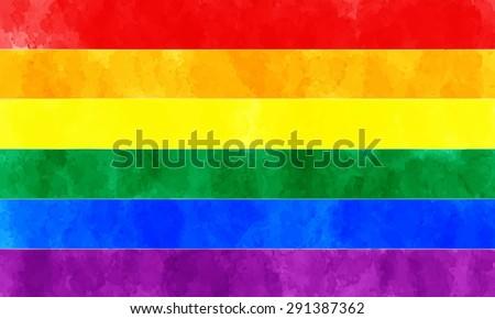 watercolor rainbow flag symbol