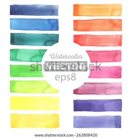 watercolor rainbow stripes