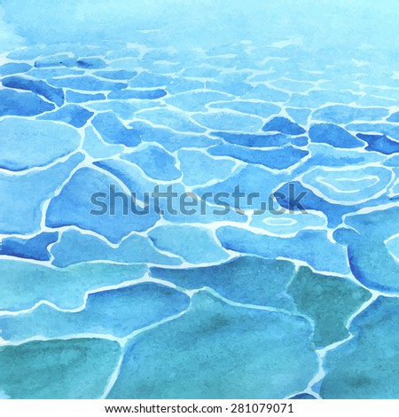 watercolor sea background made