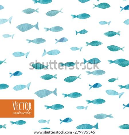 watercolor sea blue ocean