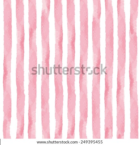 Watercolor seamless pattern,pink vertical strips,brush.Cute vintage Hand drawing painting background,texture.Wedding,easter,fashion,mother day cute backdrop,web page.Fabric,Wallpaper.Vector decoration