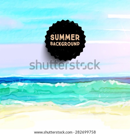 watercolor seascape for summer