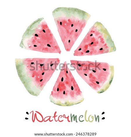 watercolor slice of sweet