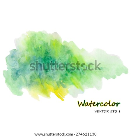 watercolor stain on white