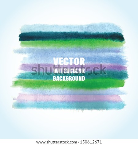 Watercolor striped banner with place for your text