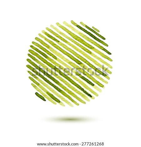 watercolor striped circle