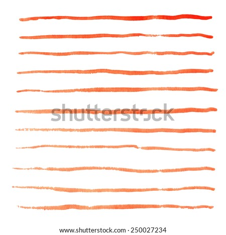 watercolor stripes hand drawn