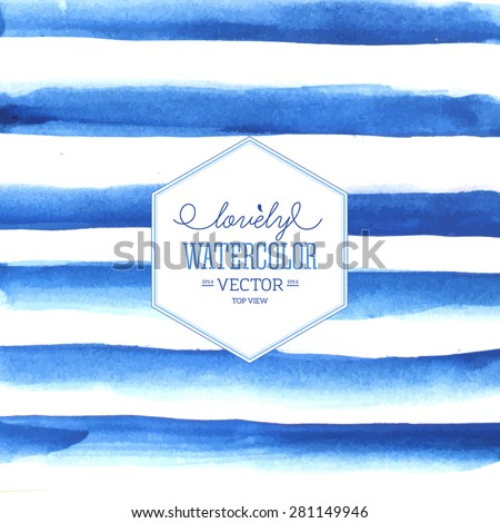 Watercolor stripes. Vector illustration