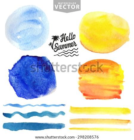 watercolor summer texture brush