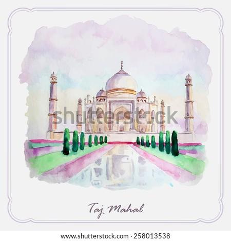 watercolor taj mahal picture