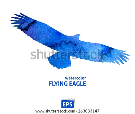 Blue bird logo vectors download free vector art stock graphics watercolor template of flying blue big eagle pronofoot35fo Image collections