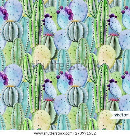 watercolor tropical  pattern...