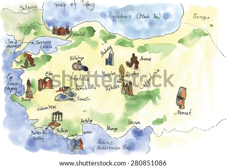 watercolor turkey attractions