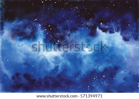 watercolor universe sky  stars