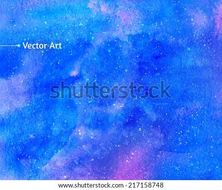 watercolor universe vector