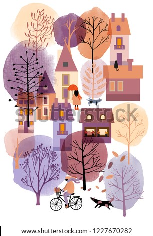 watercolor vector autumn