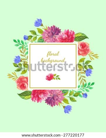 watercolor vector background #277220177