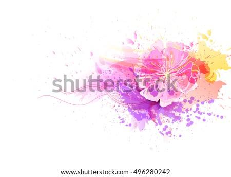 watercolor vector background