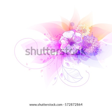 Exotic flowers layout download free vector art stock graphics watercolor vector background with colorful flowers abstract floral elements mightylinksfo Choice Image