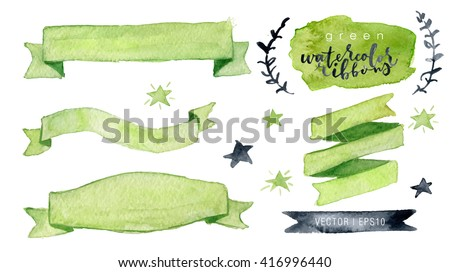watercolor vector collection
