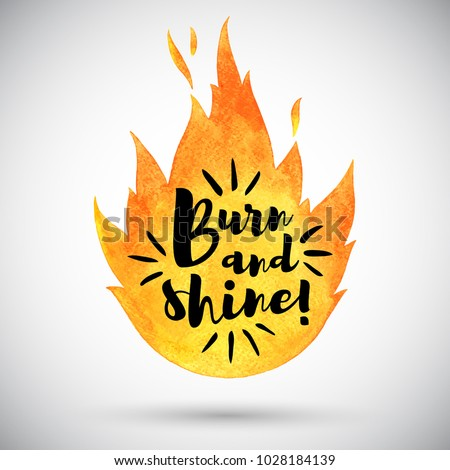 watercolor vector fire with