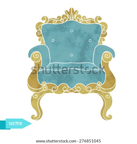 watercolor vector vintage